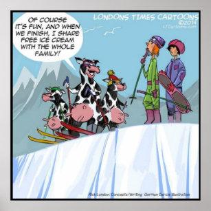 Lustige Skifahren Poster Zazzleat