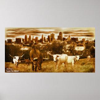 Kuh-Stadt - Kansas City Missouri Poster