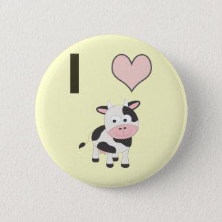 Kühe des Herzens I Runder Button 5,7 Cm