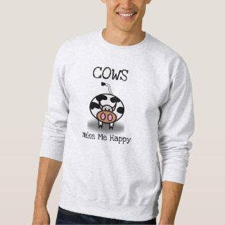 Kühe machen mich glücklich sweatshirt