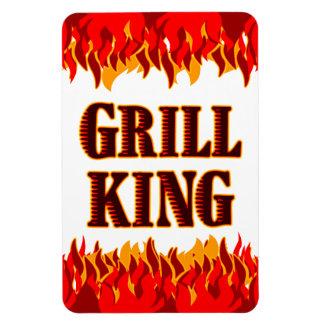 Kühlschrankmagnet Grill-König-Red Flames Magnet