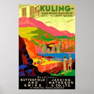 Kuling Vintages Chinese-Reise-Plakat Poster