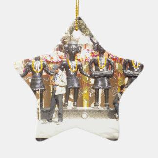 Kulturelle Showstatue Indiens der Musikerkünstler Keramik Stern-Ornament