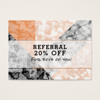 Kunden-Empfehlungs-Rosa-Marmor-Collage Jumbo-Visitenkarten