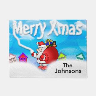 Kundengebundene frohe Weihnacht-Fußmatte Türmatte