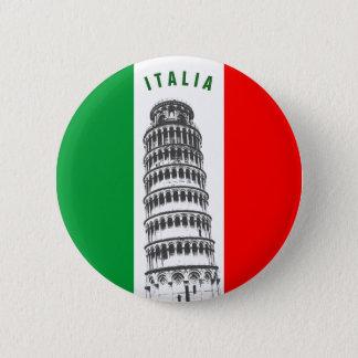 Kundengebundener lehnender Turm von Pisa und von Runder Button 5,7 Cm