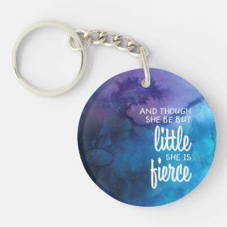 Kundengebundenes kleines mächtiges Mädchen Schlüsselanhänger