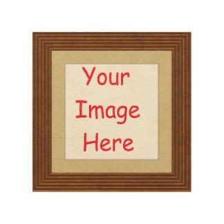 Kundengebundenes personalisiertes Druckrahmenbild Holzdruck