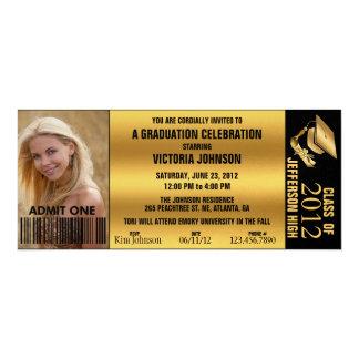 Kundengerechte Abschluss-Aufnahme-Karte laden ein 10,2 X 23,5 Cm Einladungskarte