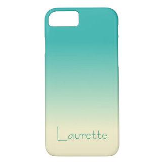 Kundengerechte einfache Aqua-und Creme-Steigung iPhone 8/7 Hülle
