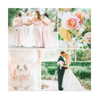 Kundengerechte Hochzeits-Foto-Collage Gespannter Galerie Druck
