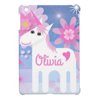 Kundengerechte hübsche rosa Unicorn iPad Abdeckung iPad Mini Hülle