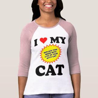 KUNDENGERECHTE i-Liebe meine Katze T-Shirt