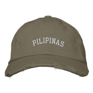 Kundengerechte Pilipinas Baseballmütze Bestickte Baseballkappe