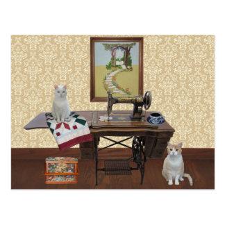 Kundengerechte Postkarte für Näherinen u. Quilters