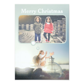 Kundengerechte Weihnachtsengels-Karte 12,7 X 17,8 Cm Einladungskarte