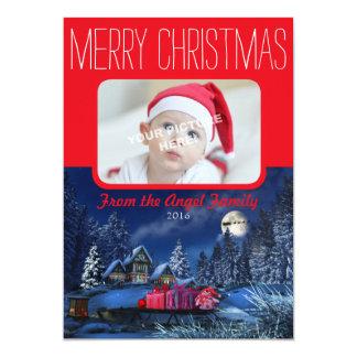 Kundengerechte Weihnachtsgruß-Karte 12,7 X 17,8 Cm Einladungskarte