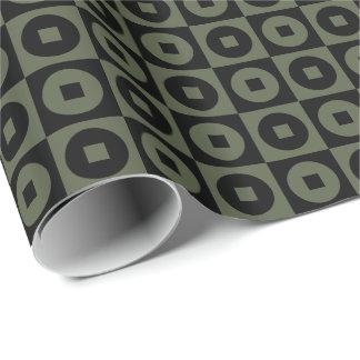 Kundengerechte Zypresse grüner/schwarzer Geschenkpapier