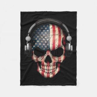 Kundengerechter Amerikaner-DJ-Schädel mit Fleecedecke