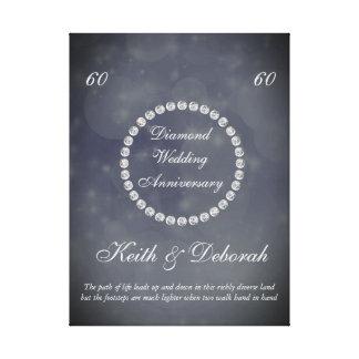 Kundengerechter Diamant-Hochzeitstag Leinwanddruck