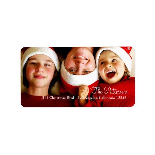 Kundengerechter Foto-Aufkleber des Weihnachten311 Adressetiketten