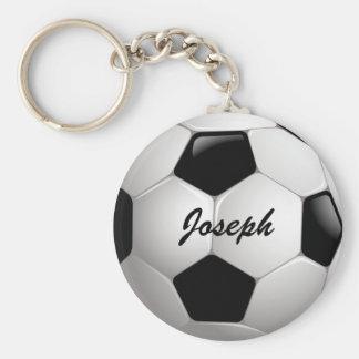 Kundengerechter Fußball-Fußball Standard Runder Schlüsselanhänger