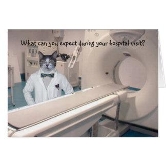 Kundengerechter lustiger Krankenhaus-Aufenthalt Grußkarte