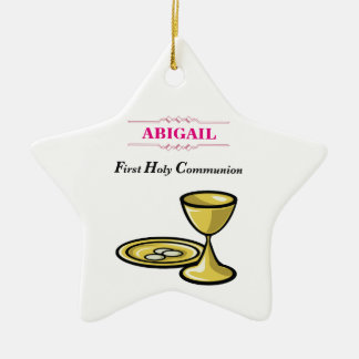 Kundengerechter, Mädchen-Kommunions-Körper und Keramik Ornament