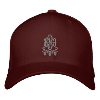 Kundengerechter Monogramm-Wein gestickter Hut Bestickte Baseballmütze