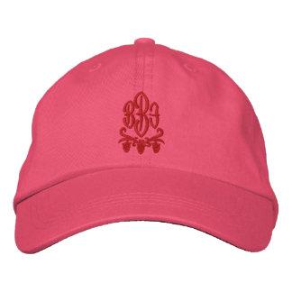 Kundengerechter Monogramm-Wein gestickter Hut Bestickte Kappen