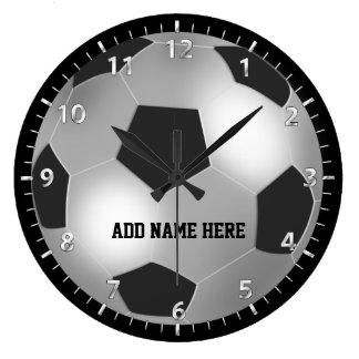 Kundengerechter silberner Fußball Uhr