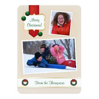 Kundengerechter und nobler Foto-Weihnachtsgruß 12,7 X 17,8 Cm Einladungskarte