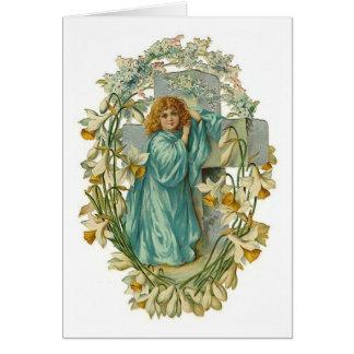 Kundengerechter Vintager Engel und Querkarten Mitteilungskarte