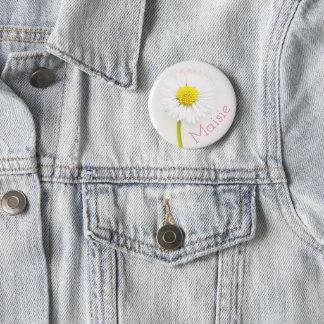 Kundengerechtes Gänseblümchen-Blumen-Abzeichen Runder Button 5,1 Cm