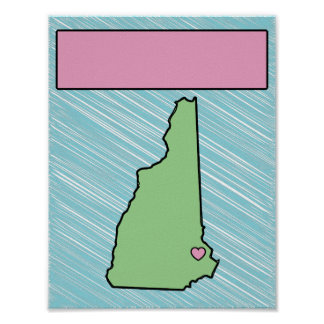 Kundengerechtes Kinderzimmer-New Hampshire Poster