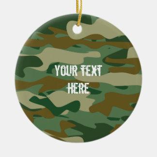Kundenspezifische Armee-Camouflage-Foto Keramik Ornament