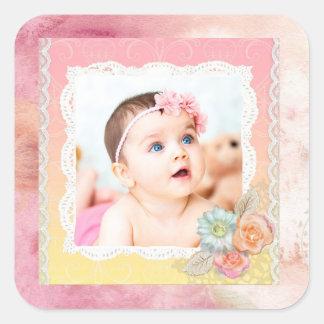 Kundenspezifische Baby-oder Quadratischer Aufkleber