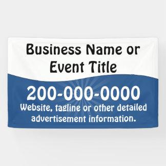 Kundenspezifische blaue und weiße banner