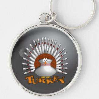 Kundenspezifische Bowling Keychains Geschenke Silberfarbener Runder Schlüsselanhänger