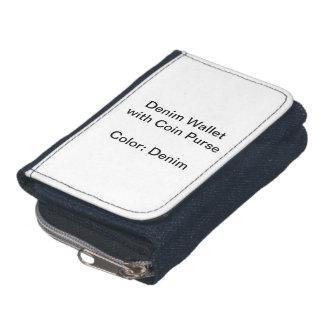 Kundenspezifische Denim-Geldbörse mit Münzen-Geldb