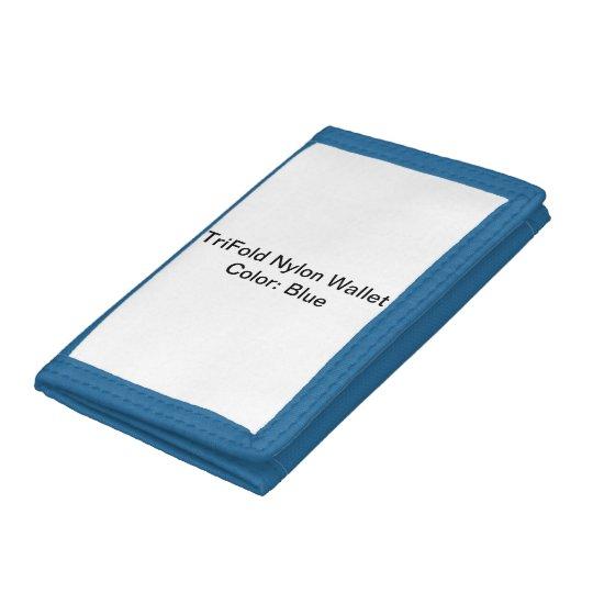 Blau TriFold Nylon Geldbeutel