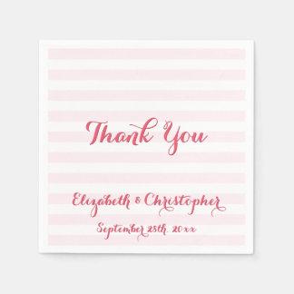 Kundenspezifische elegante Hochzeit danken Ihnen Papierserviette