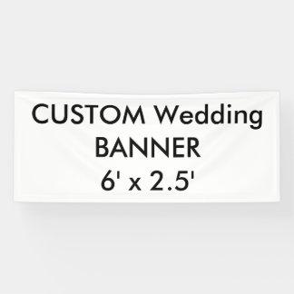 Kundenspezifische Fahne 6' x 2,5' Banner
