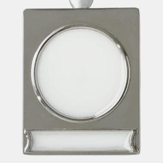 Kundenspezifische Fahnen-Verzierung - Silber Banner-Ornament Silber