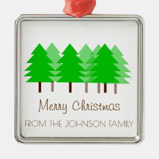 Kundenspezifische FAMILIE fröhliche Silbernes Ornament