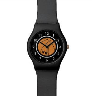 Kundenspezifische Farbband-Basketball-Uhr Armbanduhr