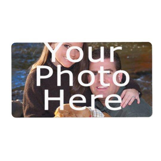 Kundenspezifische Foto-Aufkleber Versandetikett