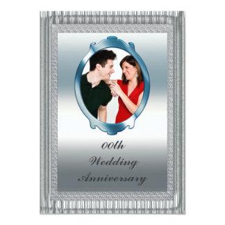Kundenspezifische Foto-Hochzeits-Jahrestags-Party 12,7 X 17,8 Cm Einladungskarte