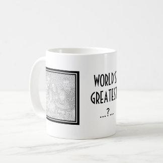 Kundenspezifische Foto-Tasse mit eleganter Grenze Tasse