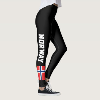 Kundenspezifische Gamaschen Norwegen-Flagge für Leggings